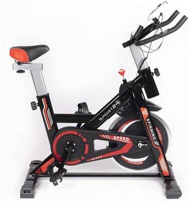 Sport24 Stationary Upright Exercise Spinning Bike
